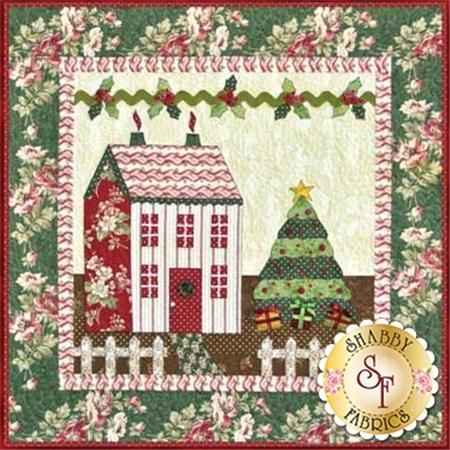 Little Garden House in Winter Pattern