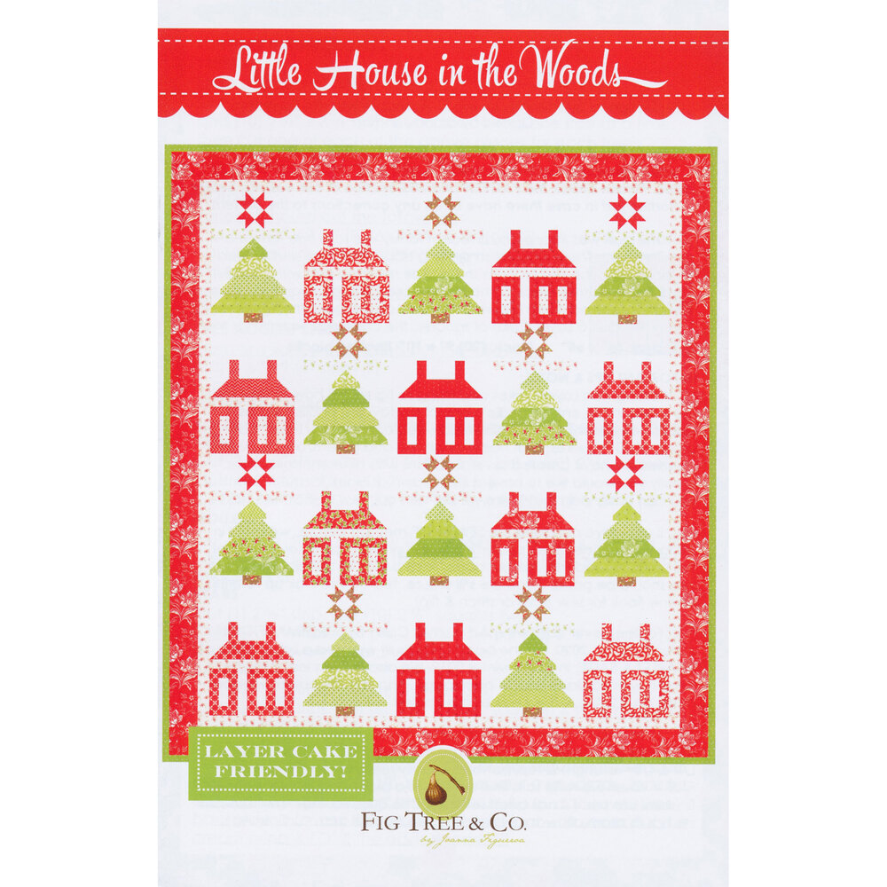 The front of the Little House In The Woods pattern | Shabby Fabrics