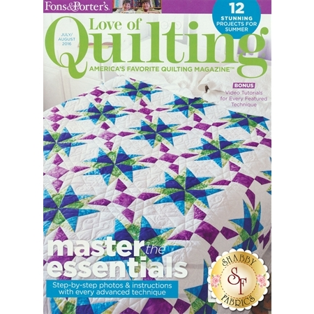 Love Of Quilting July/August 2016 Magazine