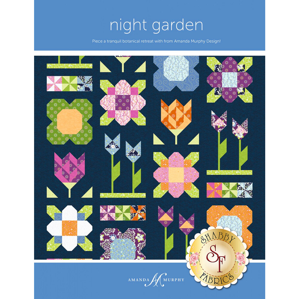 The front of the Night Garden pattern | Shabby Fabrics