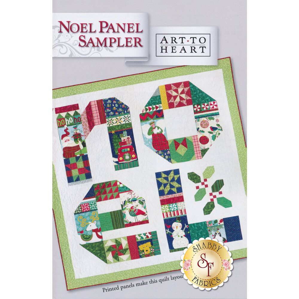The front of the Noel Panel Sampler Pattern by Art to Heart | Shabby Fabrics