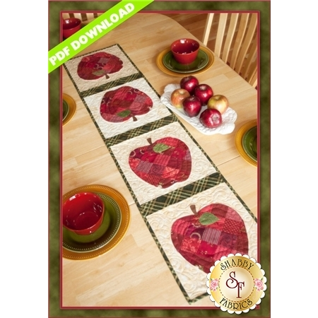 Patchwork Apple Table Runner - PDF DOWNLOAD