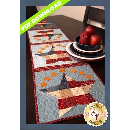 Patchwork Patriotic Table Runner - PDF DOWNLOAD