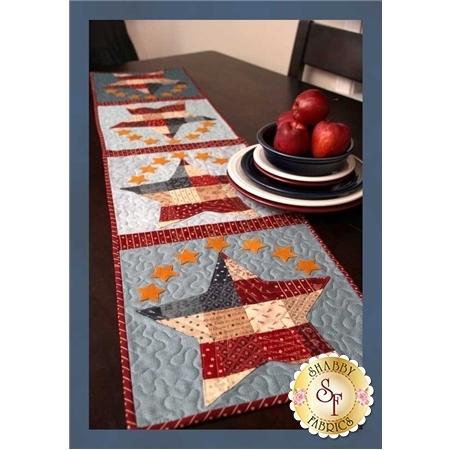 Patchwork Patriotic Table Runner Pattern