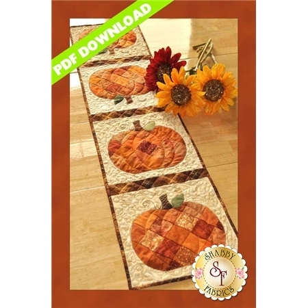 Patchwork Pumpkin Table Runner - PDF DOWNLOAD
