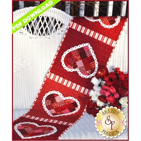 Patchwork Valentine Table Runner - PDF DOWNLOAD