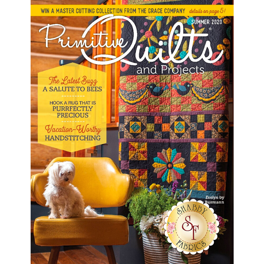 The front of the Primitive Quilts And Projects - Summer 2020 Magazine