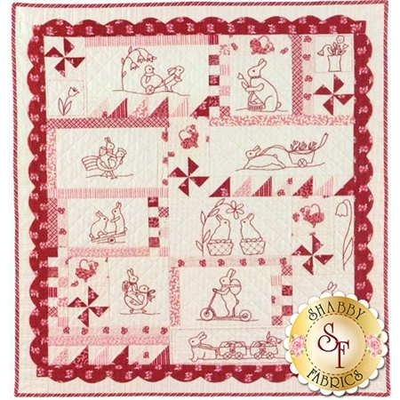 Rabbits Prefer Embroidery Pattern