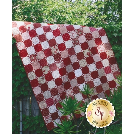 Red & White Snowball Pattern