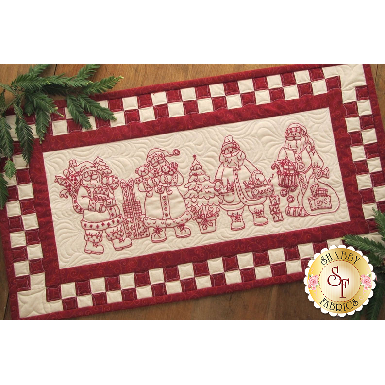 Santa Quartet Table Runner CD for Machine Embroidery