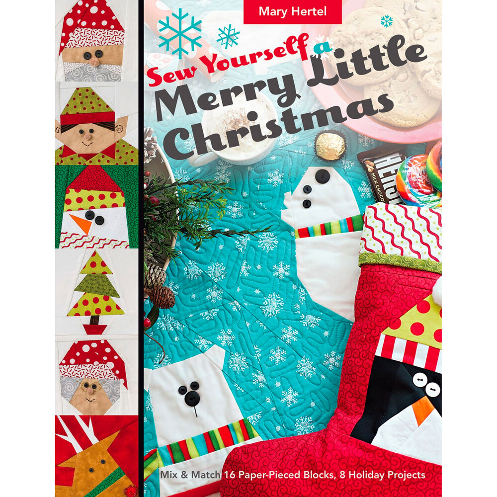 The front of the Sew Yourself a Merry Little Christmas Book