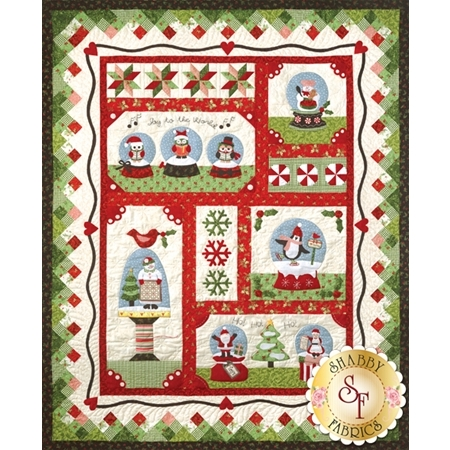 Snow Globe Village - Set of 6 Patterns + Accessory Fabric Packet