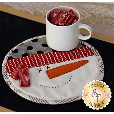 Snowman Mug Mat Pattern