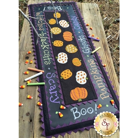 Stitches on the Pumpkins Chalkcloth Runner Kit