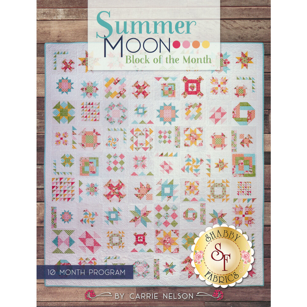 Summer Moon Block of the Month Book available at ShabbyFabrics