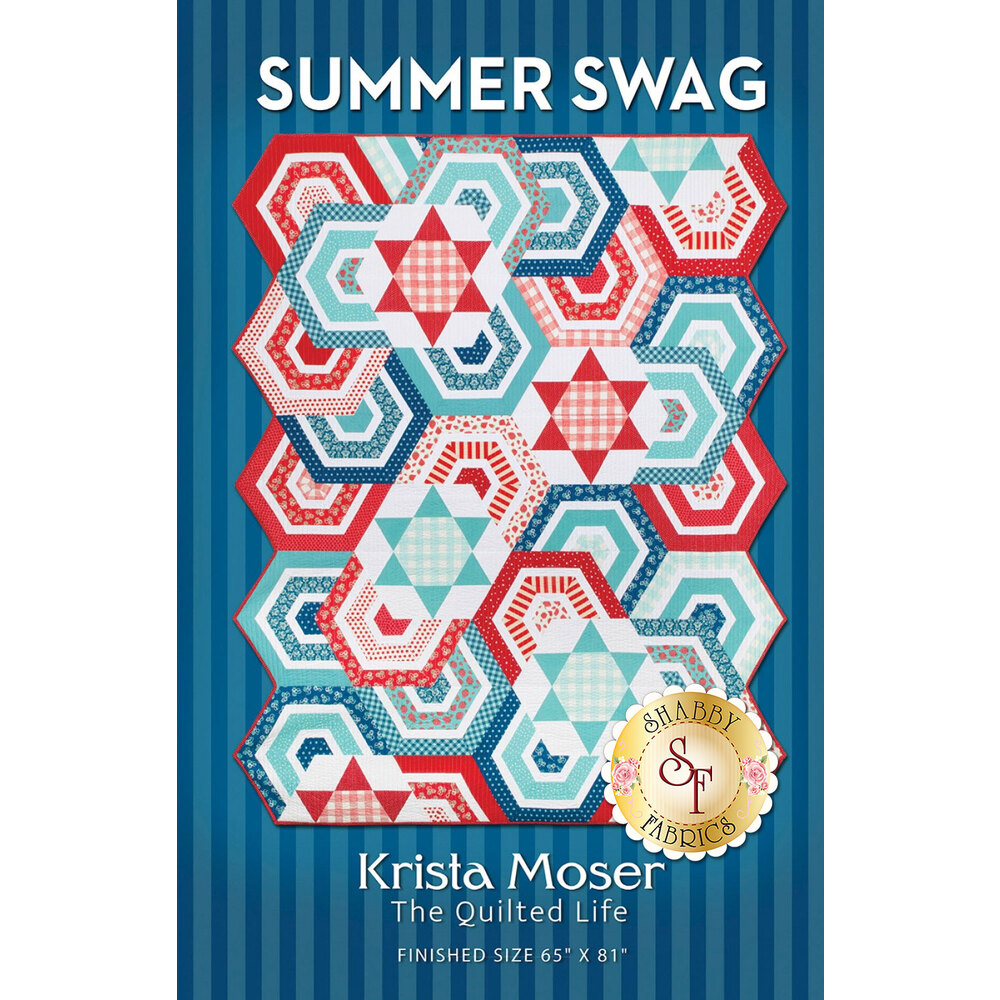 The front of the Summer Swag pattern by Krista Moser