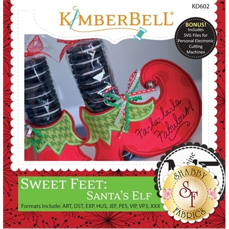 Sweet Feet: Santa's Elf - Machine Embroidery CD