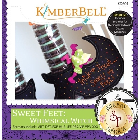 Sweet Feet: Whimsical Witch - Machine Embroidery CD