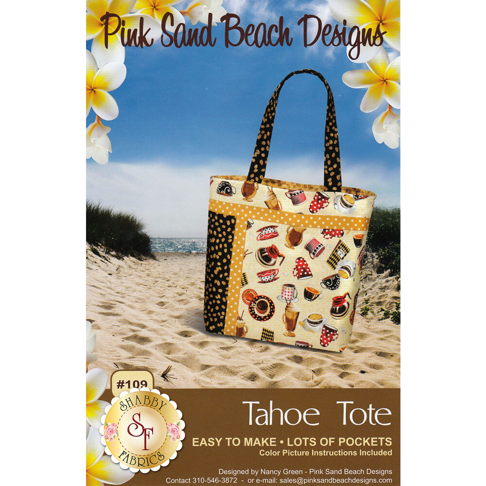 Tahoe Tote by Nancy Green for Pink Sand Beach Designs