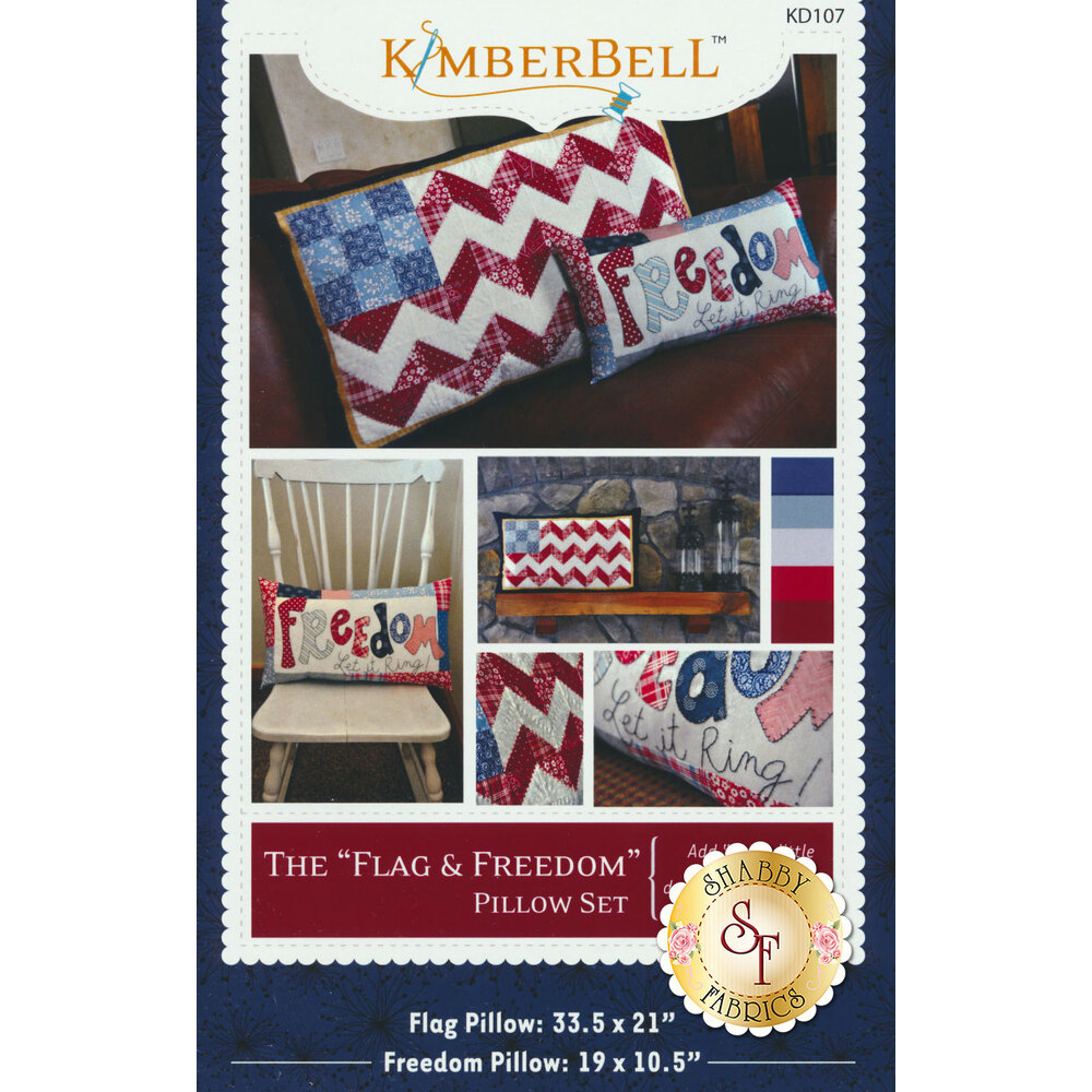 The Flag and Freedom Pillow Set Pattern available now
