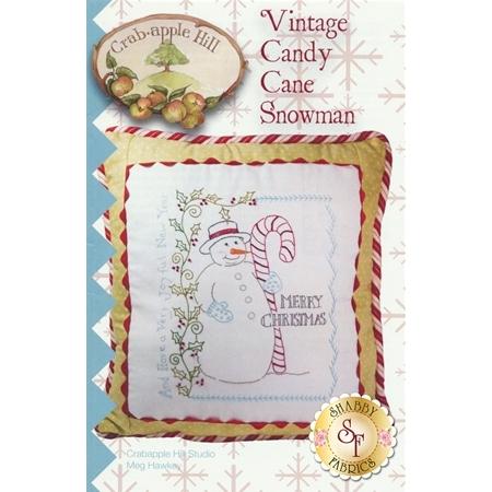 Vintage Candy Cane Snowman pattern