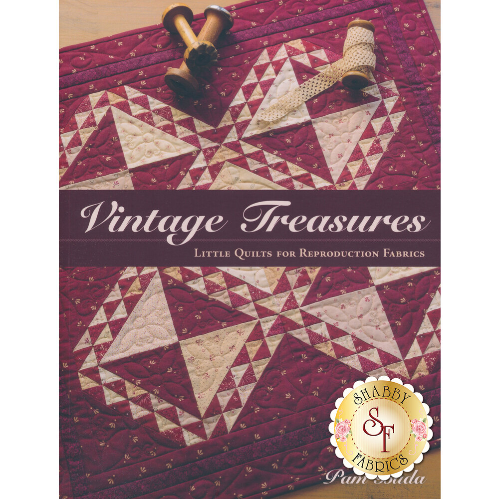 Front of the Vintage Treasures pattern book | Shabby Fabrics