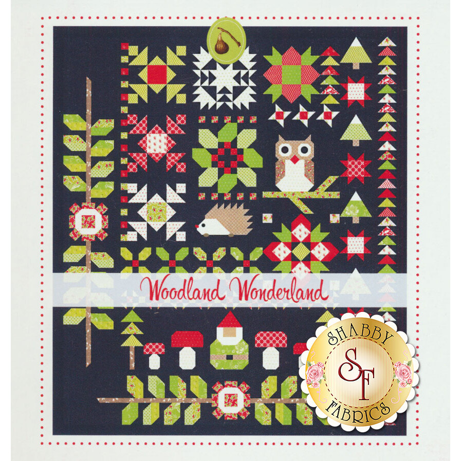 The front of the Woodland Wonderland pattern showing the finished quilt | Shabby Fabrics