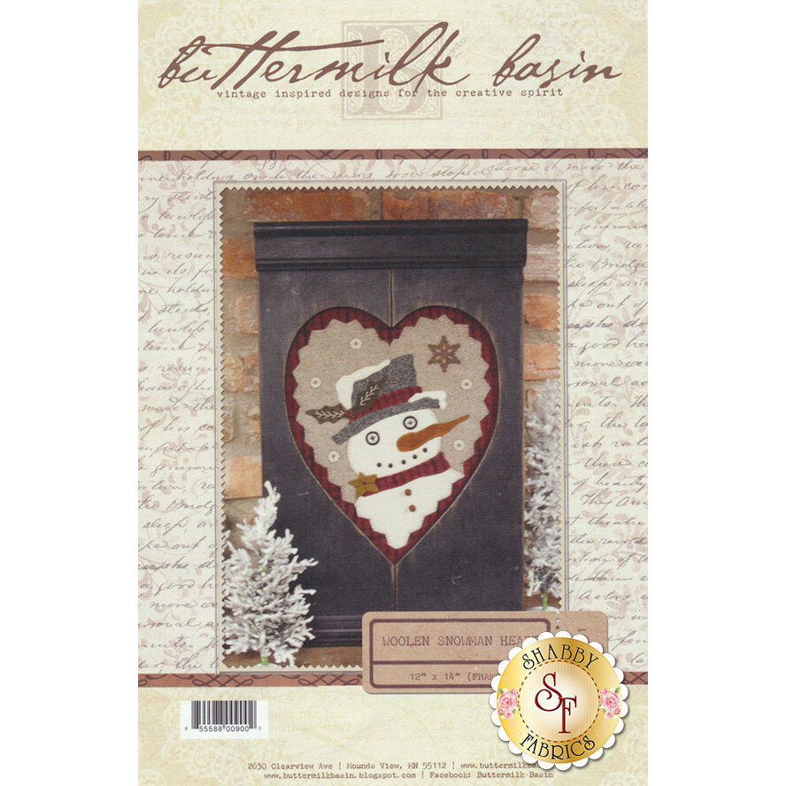 Woolen Snowman Heart Pattern