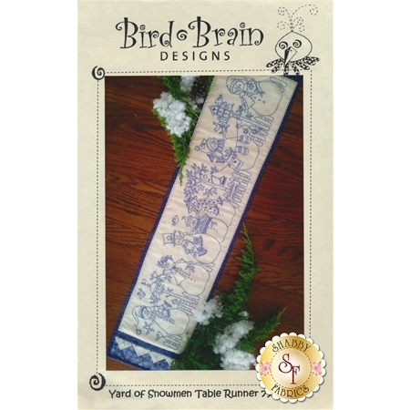 Yard of Snowmen Table Runner CD for Machine Embroidery