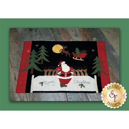 Runaway Rudolph Wool Table Mat Pattern