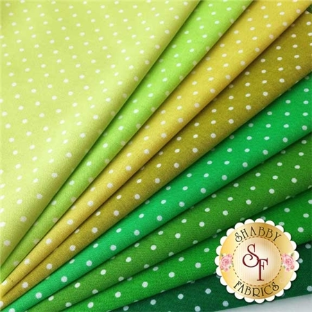 Pinhead   8 Fat Eighth Set - Green By Michael Miller Fabrics