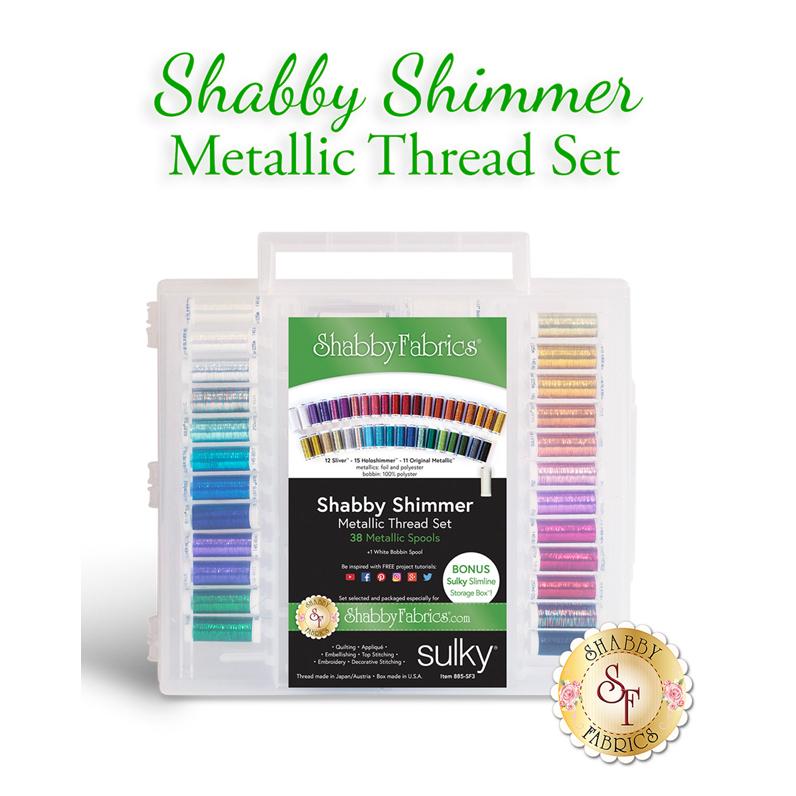 Shabby Shimmer Metallic Thread Set - 39pc
