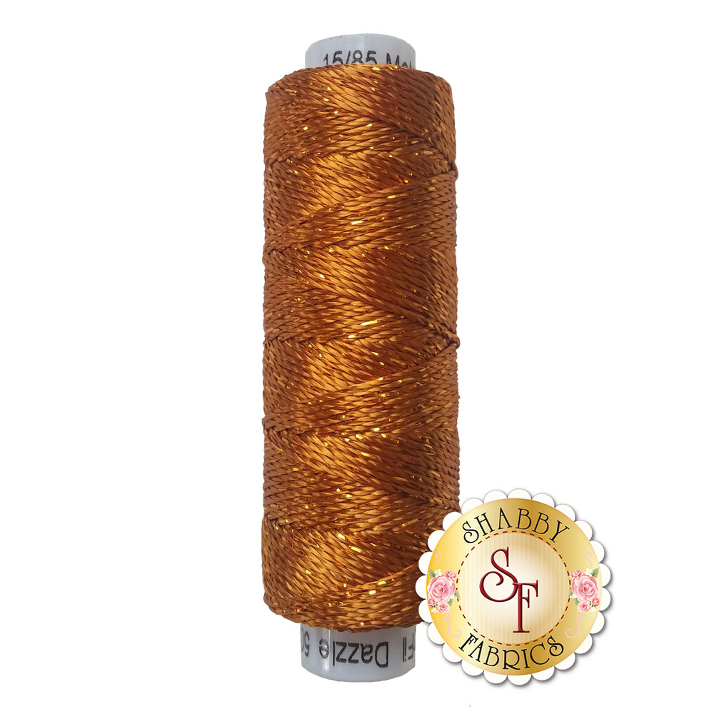 Spool of Dazzle Thread DZ328 Golden Brown | Shabby Fabrics