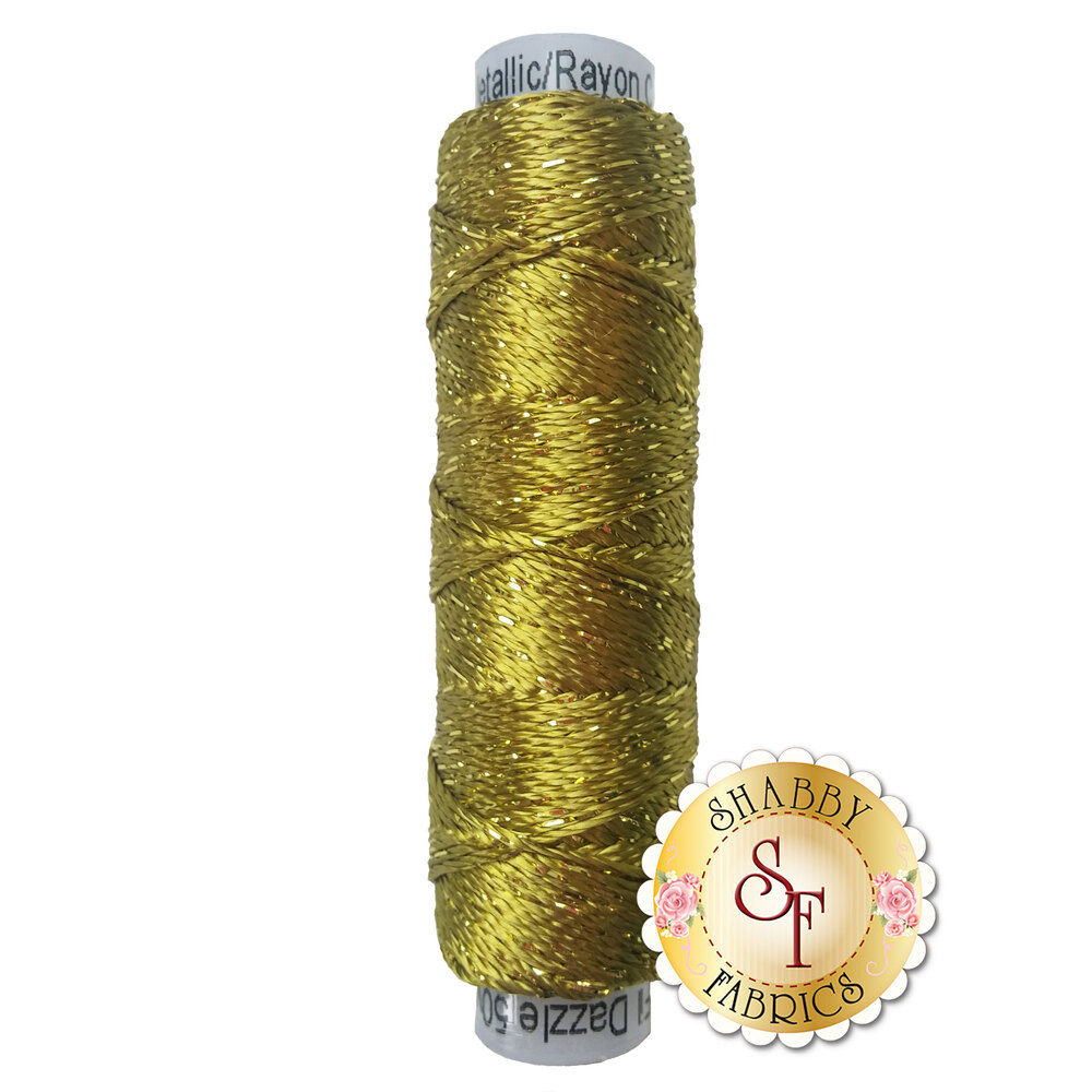 Spool of Dazzle Thread DZ4120 Golden Olive | Shabby Fabrics