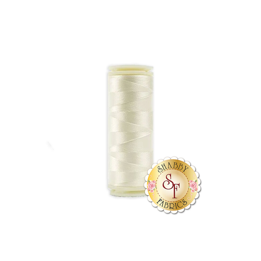 WonderFil InvisaFil Thread #112 Antique White - 50 yds   Shabby Fabrics