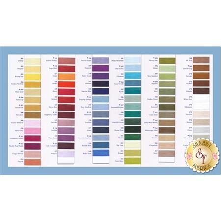 Kimono Silk Thread Color Charts