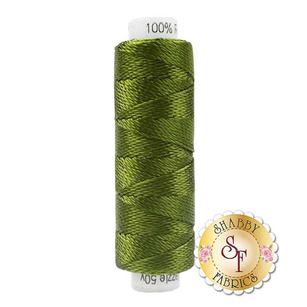 Dark green spool of thread | Shabby Fabrics