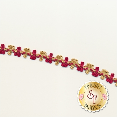 "1/2"" Stephanoise Rococo Trim - Red/Gold"