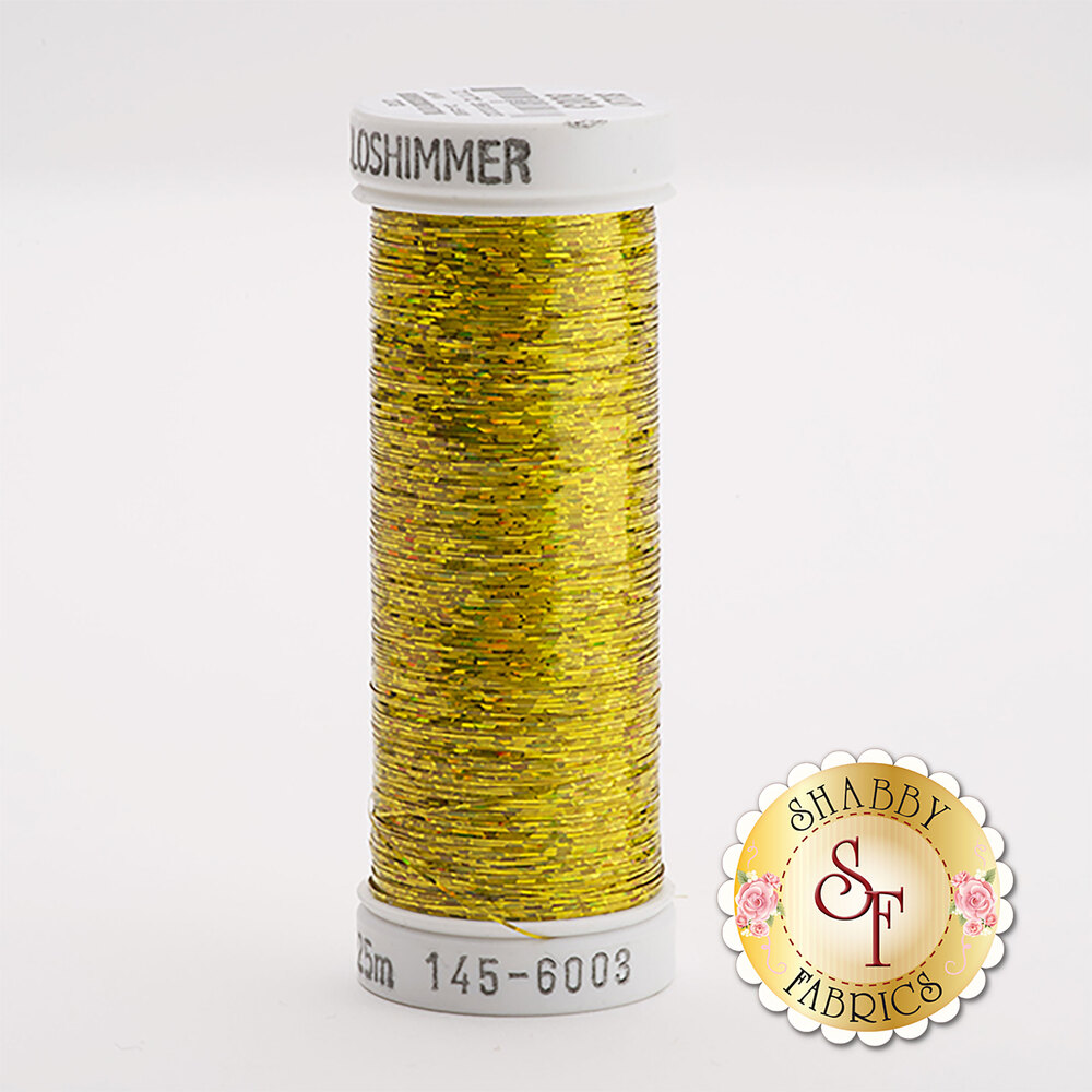 Sulky Holoshimmer Metallic #6003  Lt. Gold 250 yd Thread
