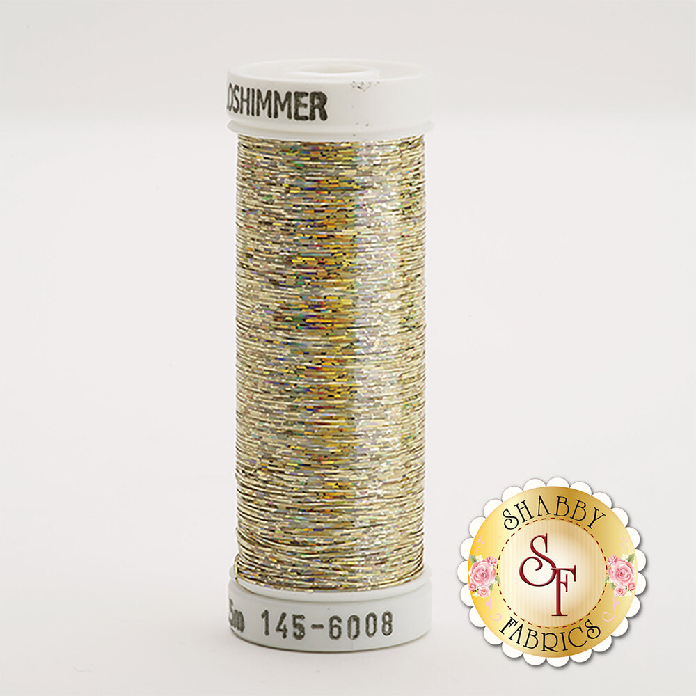 Sulky Holoshimmer Metallic #6008 Yellow Gold 250 yd Thread