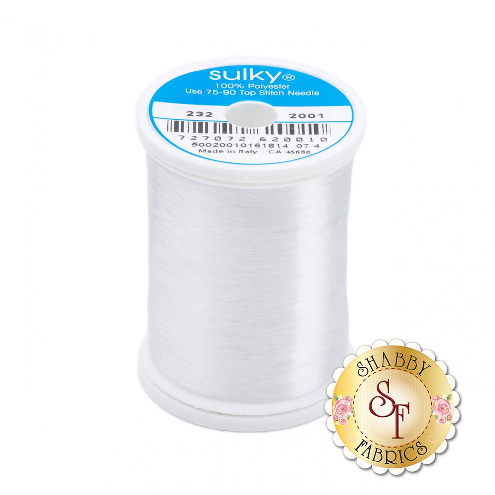 Sulky Invisible Polyester Thread - 2200yd Spool | Shabby Fabrics