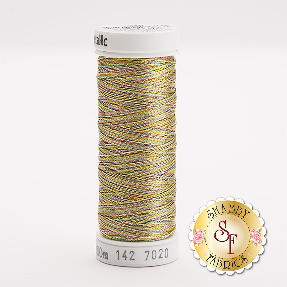 Sulky Original Metallic #7020 Gold/Turquoise/Pink 140 yd Thread
