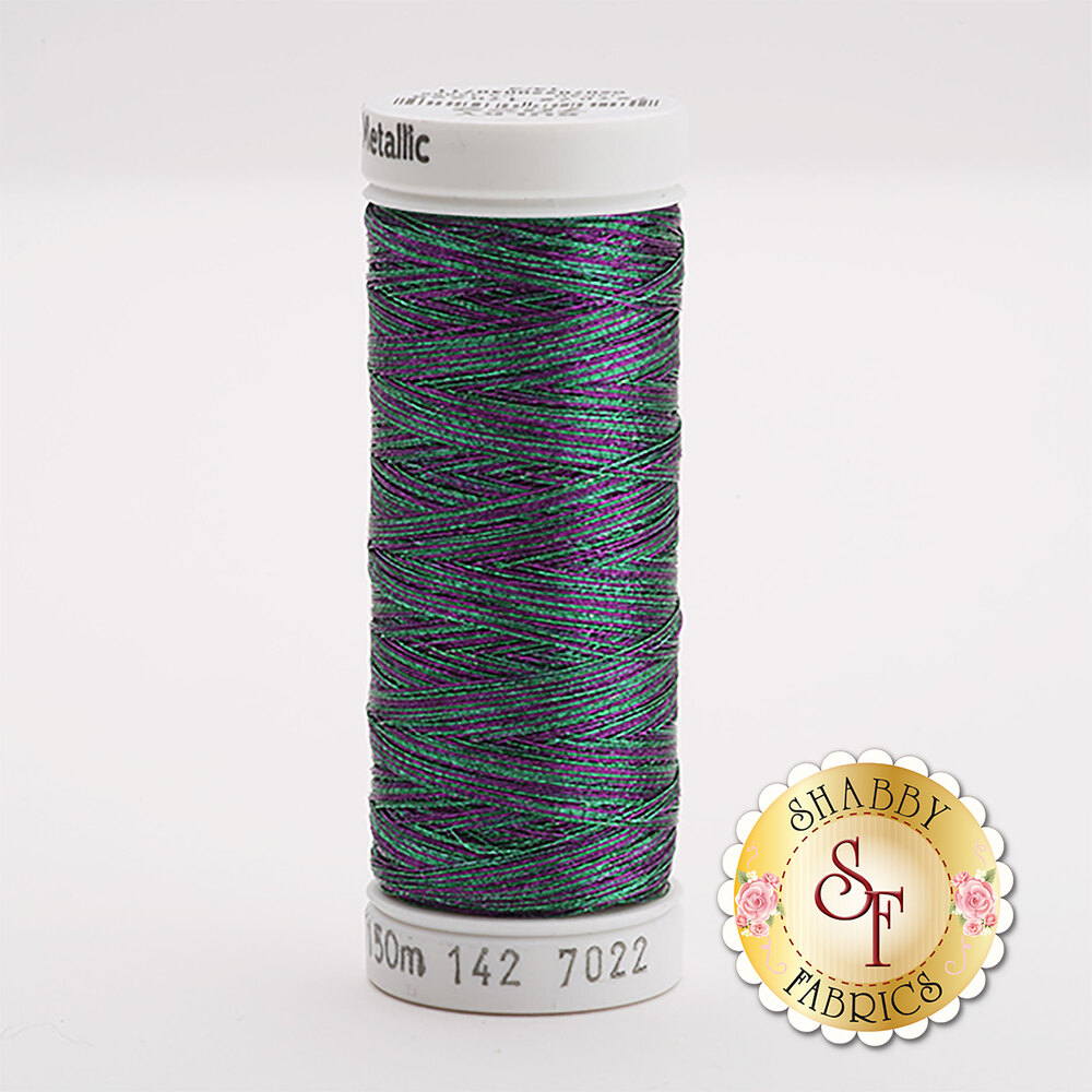Sulky Original Metallic #7022 Jade/Silver 165 yd Thread