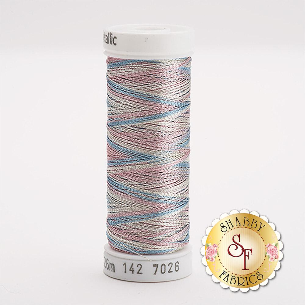 Sulky Original Metallic #7026 Silver/Baby Blue/Pink 140 yd Thread