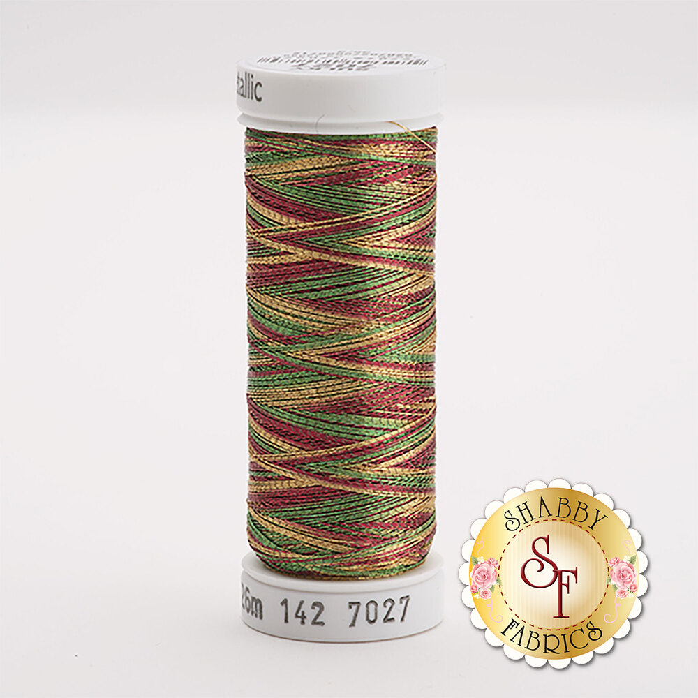 Sulky Original Metallic #7027 Cranberry/Gold/Pine Green 140 yd Thread