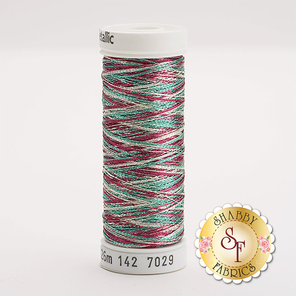 Sulky Original Metallic #7029 Silver/Rose/Jade 140 yd Thread