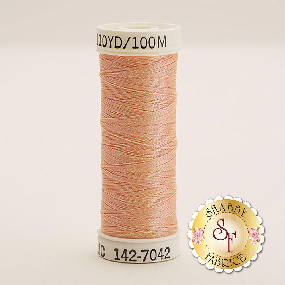 Sulky Original Metallic #7042 Rainbow Prism Peach 110 yd Thread