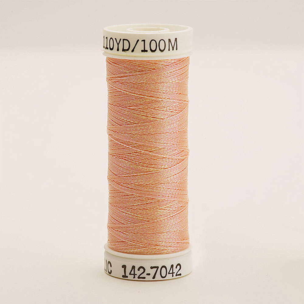 Sulky Original Metallic #7042 Rainbow Prism Peach 110 yd Thread