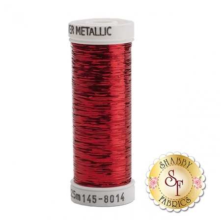 Sulky Sliver Metallic #8014 Christmas Red 40wt 250 yd Thread