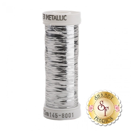 Sulky Sliver Metallic #8001 Silver 40wt 250 yd Thread